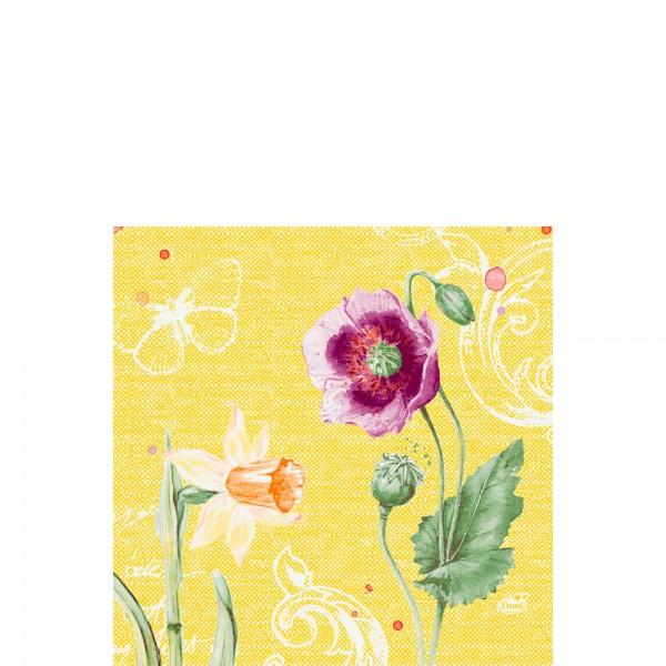 DUNI Zelltuch Serviette 33x33 cm 1/4F. Spring Lilies