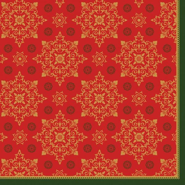 DUNI Klassik Serviette 40x40cm 1/4F.XMAS Deco Red