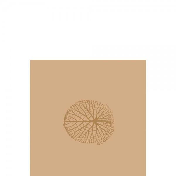 DUNI Zelltuch Serviette 33x33 cm 1/4F. Organic Braun