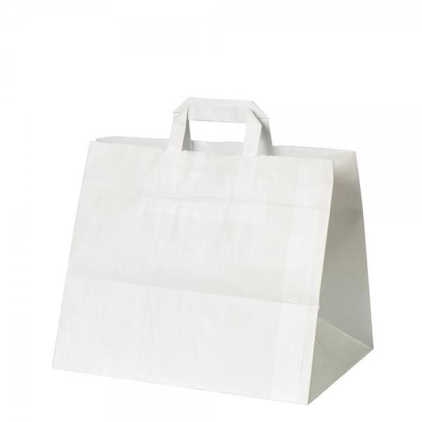 Kuchen Tragetaschen 26x17x25cm weiß Gr. 1