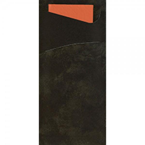 DUNI Serviettentasche Sacchetto 190x85 mm schwarz