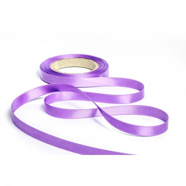 Geschenkband mit Druck 10mm breit 100 Meter lila