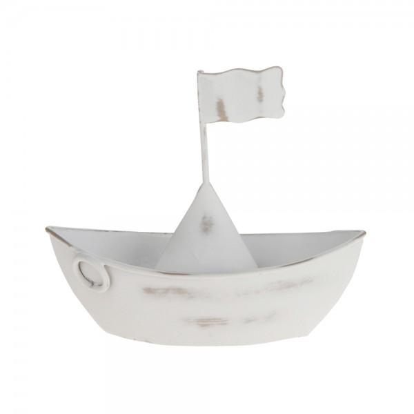 Boot Maritim 11x1x10 cm weiß/used