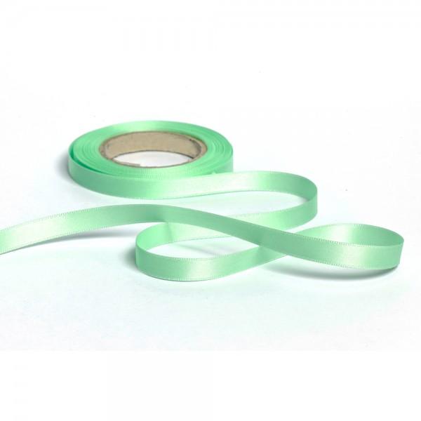Geschenkband mit Druck 15mm breit 100 Meter mintgrün