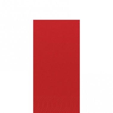 Fasana Zelltuch Serviette 33x33cm 1/8F. rot