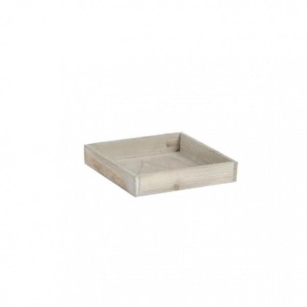 Holztablett 20x20x4 cm braun