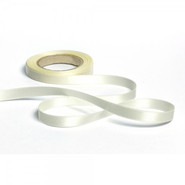 Geschenkband mit Druck 10mm breit 100 Meter creme