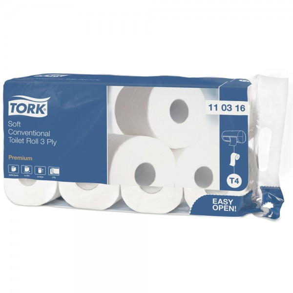 TORK Toilettenpapier 3 lagig hochweiß 110316