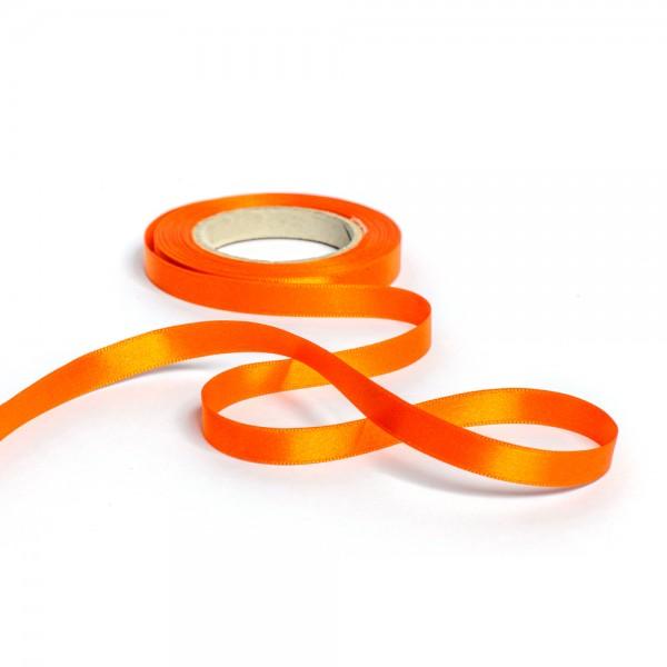 Geschenkband mit Druck 15mm breit 100 Meter orange