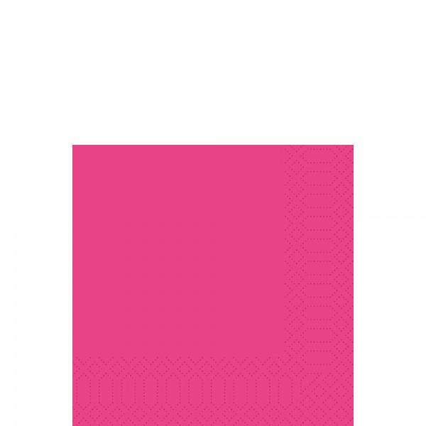 DUNI Zelltuch Serviette 33x33 cm 1/4F.fuchsia
