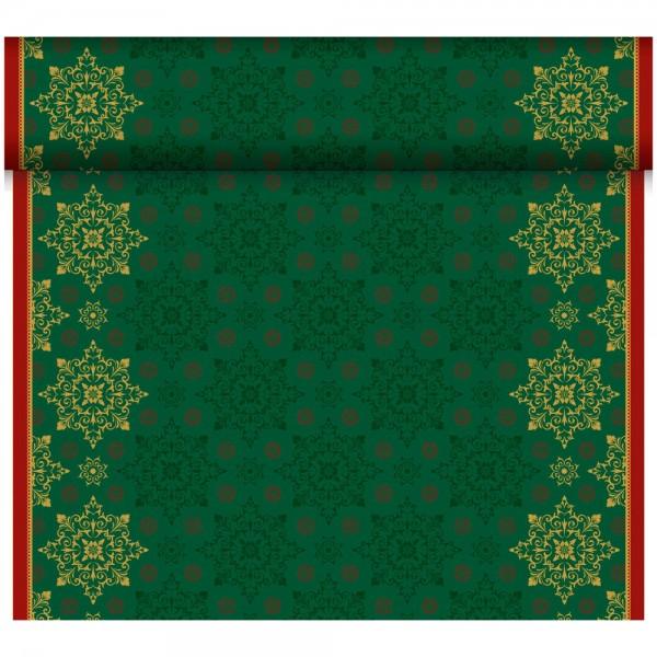 DUNI Tete-A-Tete Tischläufer Xmas Deco green