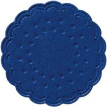 Tassendeckchen rund Ø 7,5 cm dunkelblau