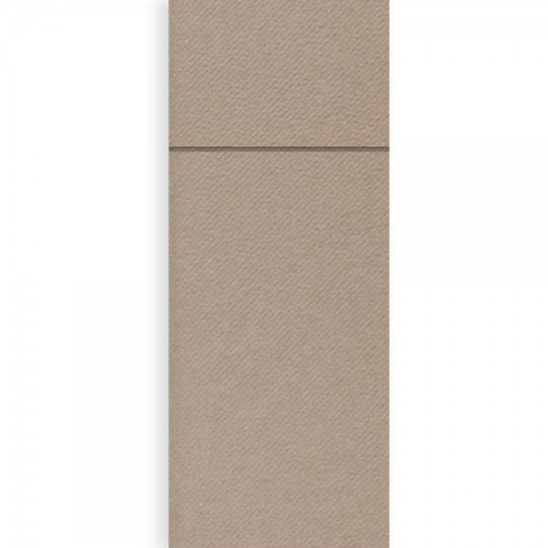 Serviettentasche Airlaid 8x20 cm Grau
