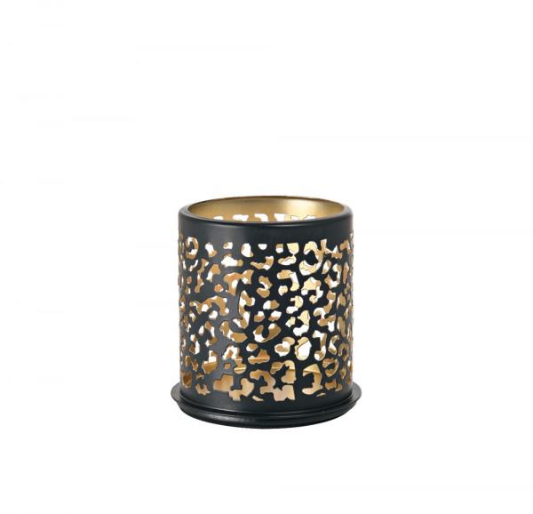 DUNI Kerzenhalter aus Metall 75 x 75 mm Safari Leopard
