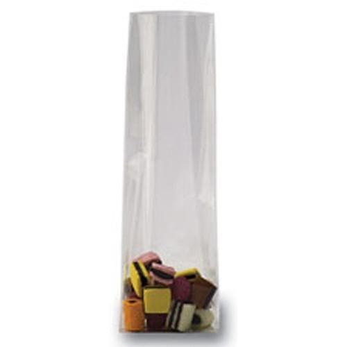 Klotz/Blockbodenbeutel 8x5x25cm transparent