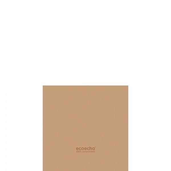 DUNI Dunisoft Serviette 20x20 cm 1/4F. Eco Braun