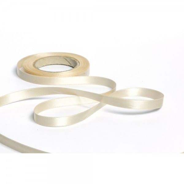 Geschenkband mit Druck 10mm breit 100 Meter elfenbein