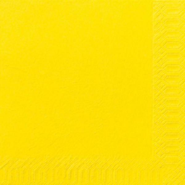 TORK Cocktailserviette 24 x 24 cm 2 lagig gelb