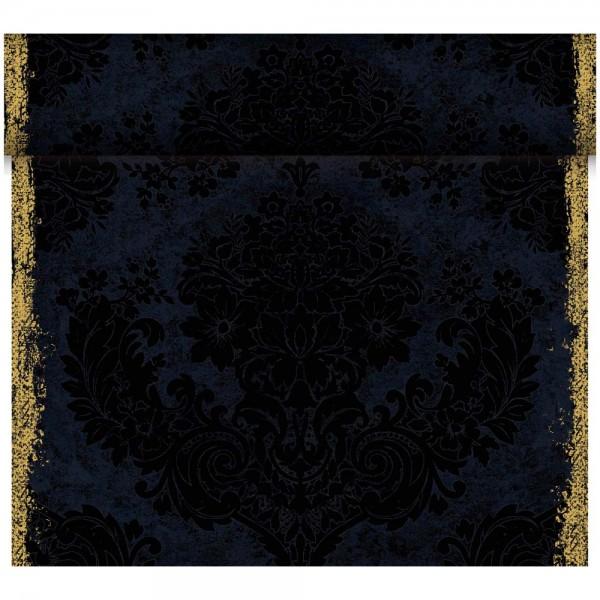 DUNI Tete-A-Tete Tischläufer Dunicel Royal Black