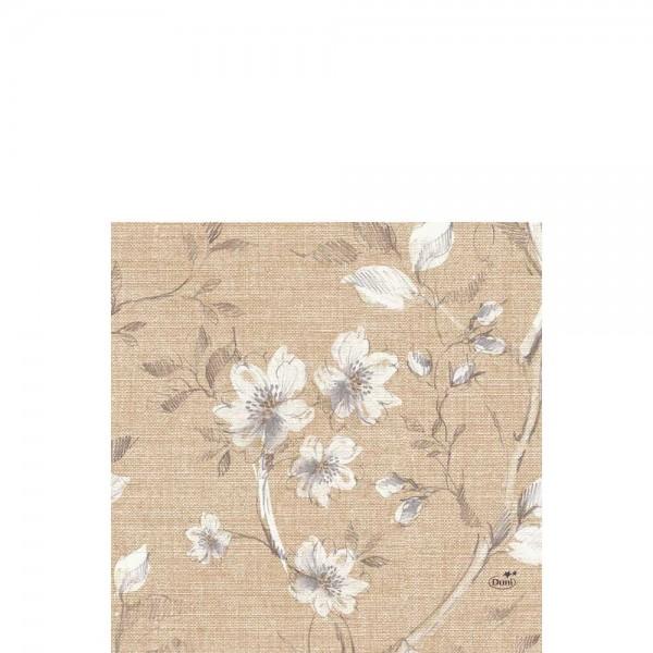 DUNI Zelltuch Serviette 33x33 cm 1/4F. Floris