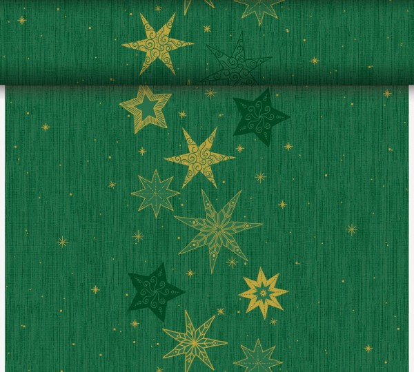 DUNI Tete-A-Tete Tischläufer Stars Stories Green