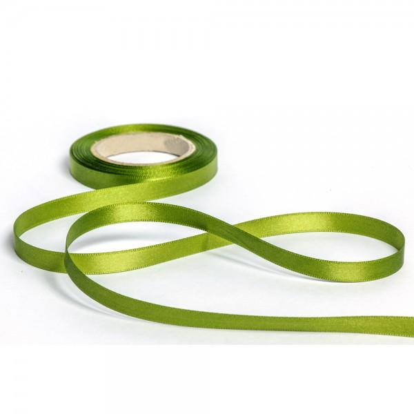 Geschenkband mit Druck 10mm breit 100 Meter moosgrün