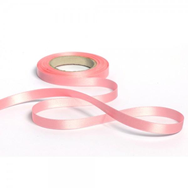 Geschenkband mit Druck 10mm breit 100 Meter rosa