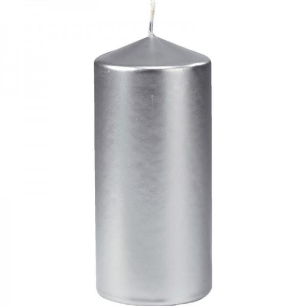 Stumpenkerze 150 mm Ø 60 mm silber