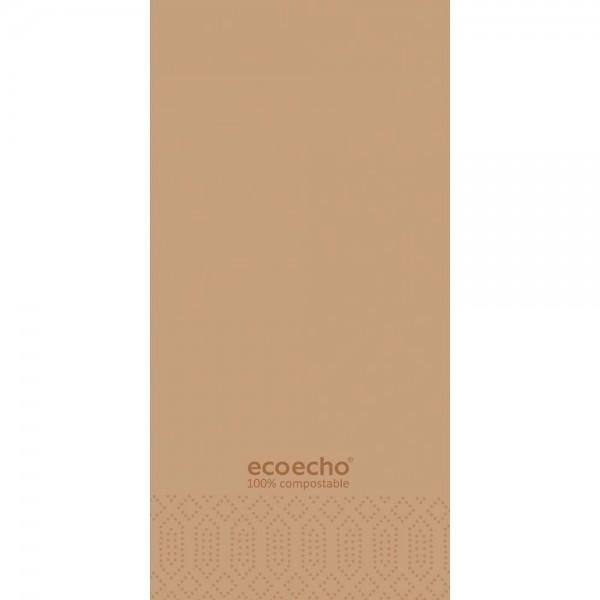DUNI Zelltuch Serviette 40x40cm 2lagig 1/8F. Eco braun