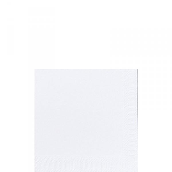 Fasana Cocktailserviette 24x24cm 1/4F. weiß