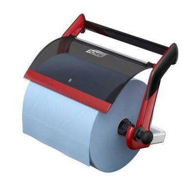 Wandhalter für Reinigungstücher rot/schwarz