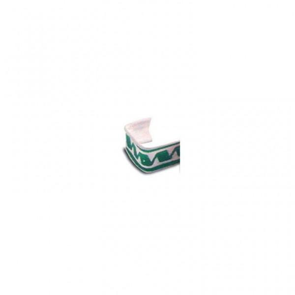 Beutelverschluss u-förmig 3cm grün/weiß