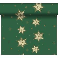 DUNI Tete-A-Tete Tischläufer Glittering Stars Gree