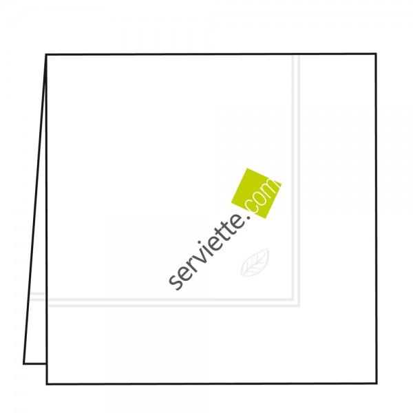 Zelltuchservietten weiß 39x39 cm 1/4 Falz mit Werbedruck