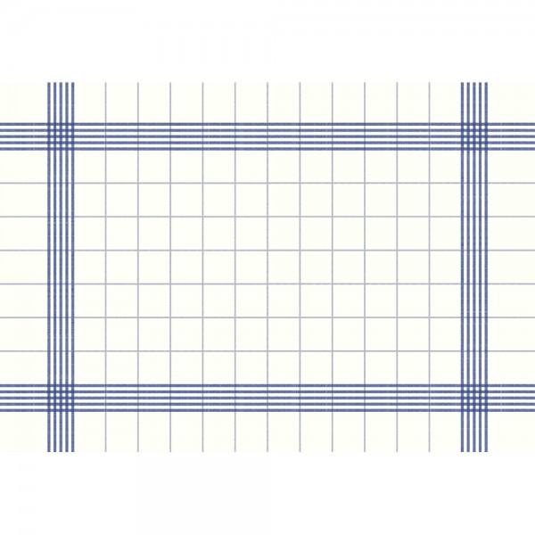 DUNI Towel Napkin 38x54 cm 3-lagig weiß/blau