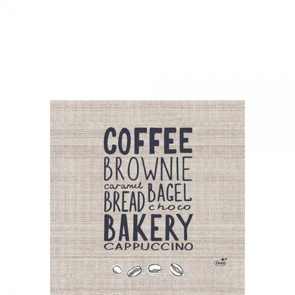DUNI Zelltuch Serviette 33x33 cm 1/4F. Bakery
