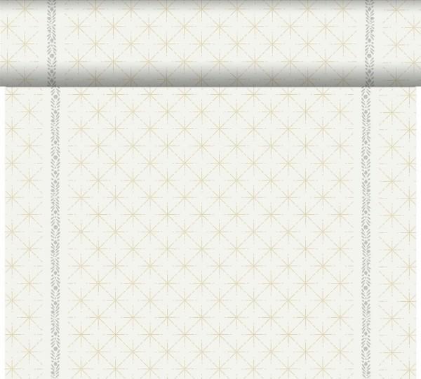 DUNI Tete-A-Tete Tischläufer Glitter White