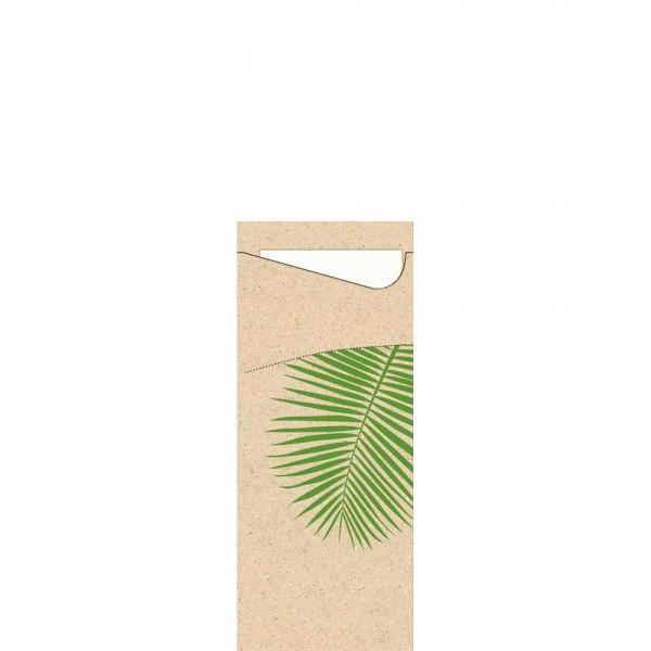 DUNI Serviettentasche aus Graspapier190x85mm Leaf