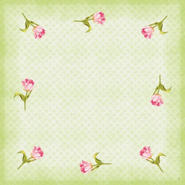 DUNI Mitteldecke Dunicel 84x84 cm Love Tulips