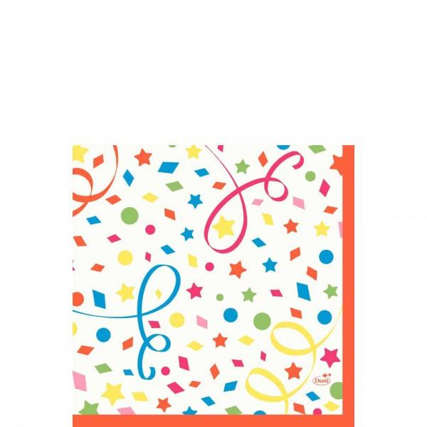 DUNI Zelltuch Serviette 33x33 cm 1/4F. Confetti