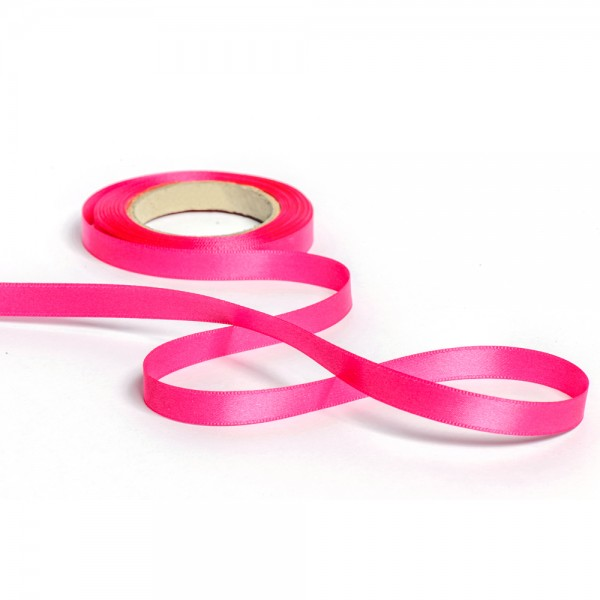 Geschenkband mit Druck 50mm breit 100 Meter pink