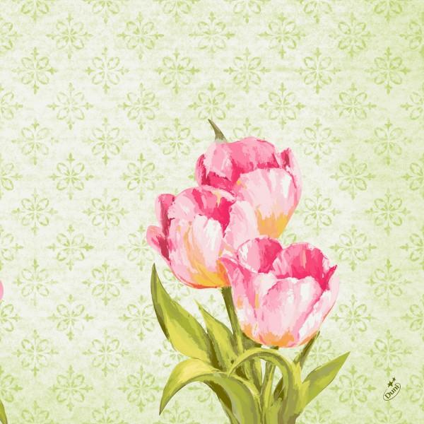 DUNI Klassik Serviette 40x40cm 1/4F. Love Tulips