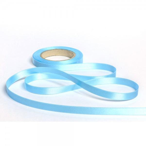Geschenkband mit Druck 10mm breit 100 Meter eisblau