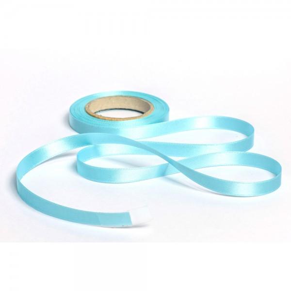 Geschenkband mit Druck 15mm breit 100 Meter aqua