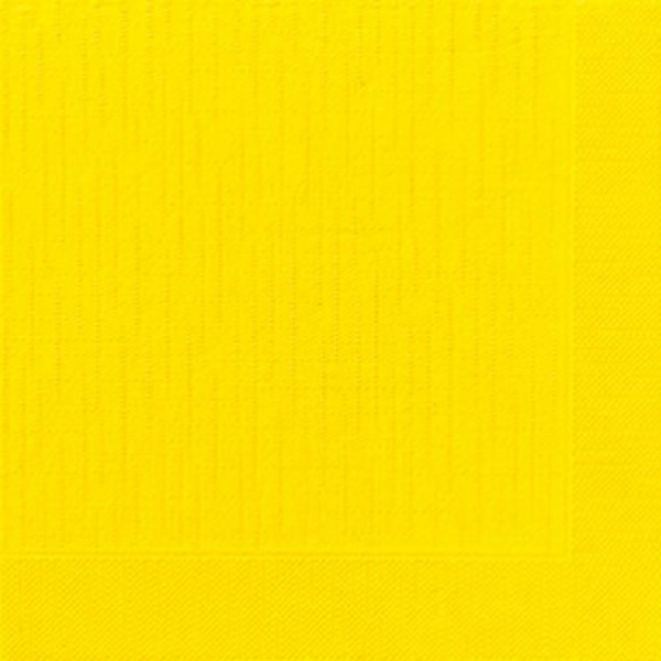 DUNI Klassik Serviette 40x40 cm 1/4F.gelb