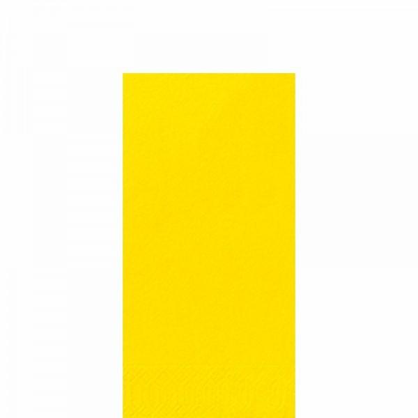 DUNI Zelltuch Serviette 33x33 cm 1/8F. gelb