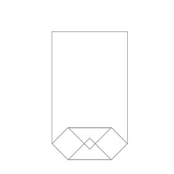 Bodenbeutel Klarsicht 16x27cm transparent