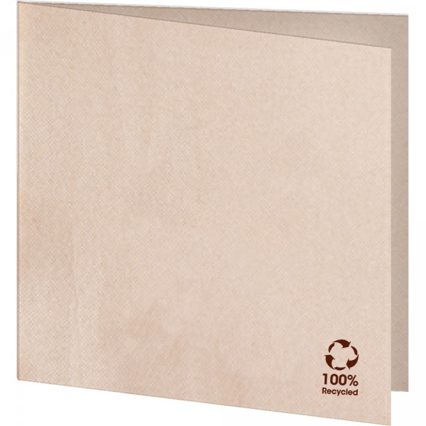 Serviette 100% Recycling Material 40x40cm 1/4 Falz