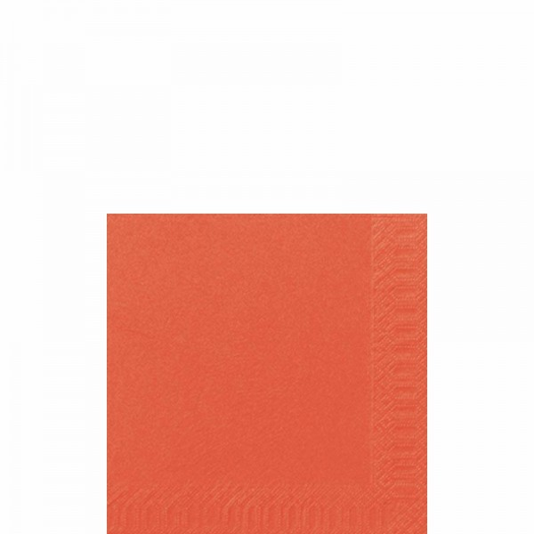 DUNI Cocktailserviette 24x24 cm 3-lagig mandarin