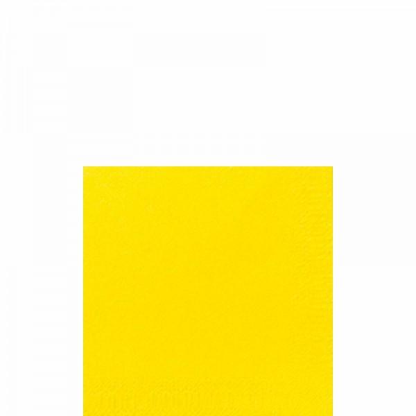 DUNI Cocktailserviette 24x24 cm 3-lagig gelb